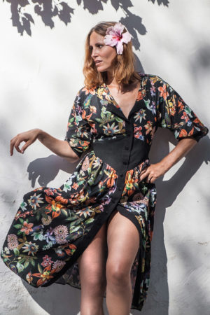 LENA KLAR COUTURE - MERYL DRESS - Garden of Eden