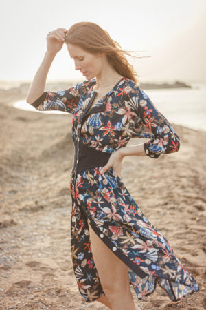 Lena Klar Couture - The meryl Dress - Ocean Flowers
