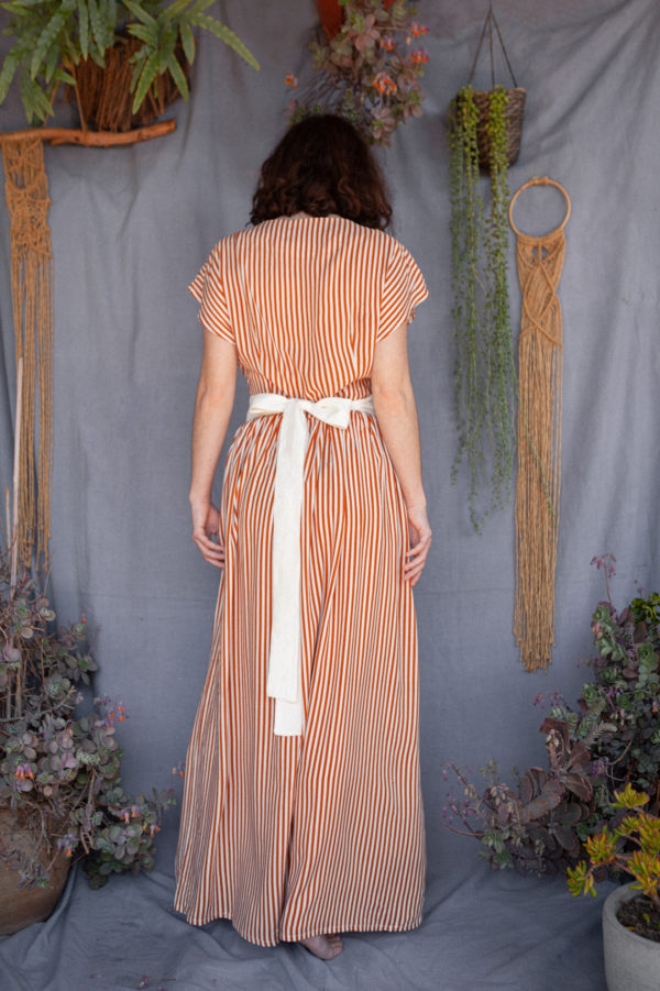 Lena Klar Couture - The Emily Dress - Camel Striped