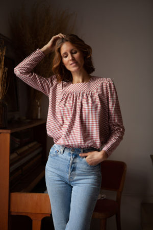 Lena Klar Paris - The Lena Blouse - Red ochre