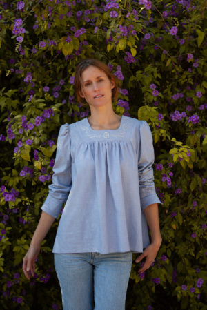Lena Klar Paris - The Lena Blouse - Victorian blue