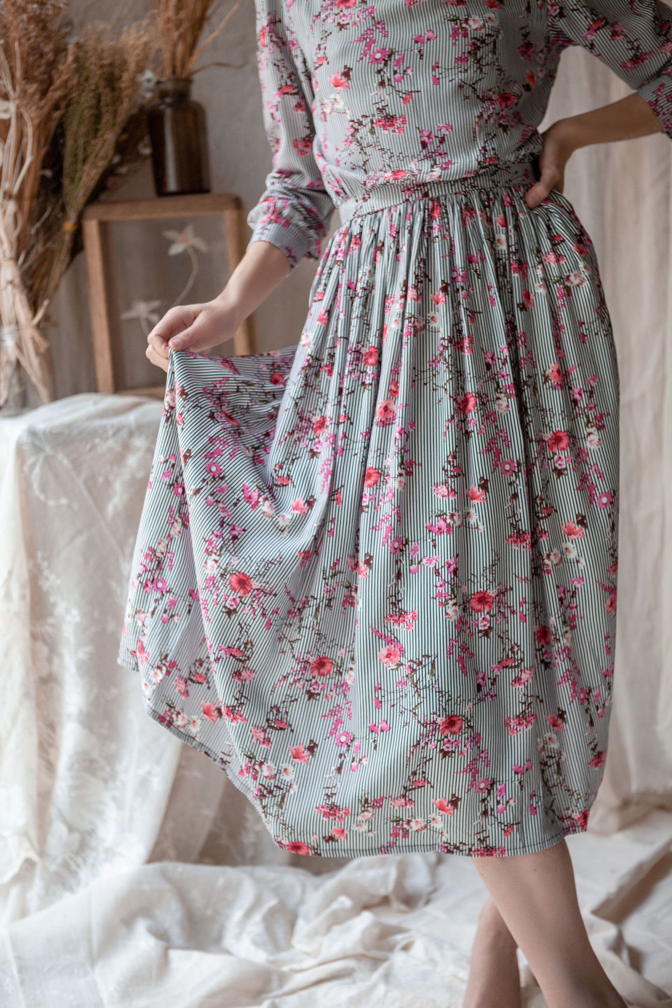 Lena Klar Paris - The Anna Dress - Cherry Blossom